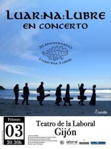 LUAR LA LUBRE gira XXX aniversario. Gijón @ Teatro de la Laboral