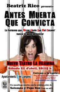 Beatriz Rico, Langreo. Antes muerta que convicta @ Nuevu Teatru La Felguera